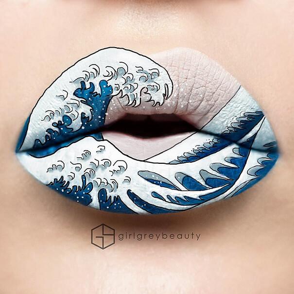 Make-Up Bibir Ini Keren dan Anti Mainstream Banget