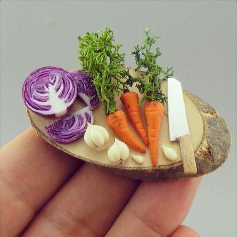 Wow, Lihat Yuk Miniatur Makanan yang Super Mirip Aslinya