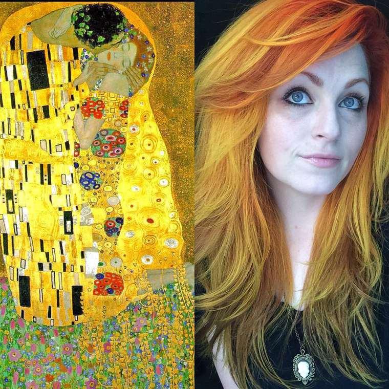 Ketika Cat Rambut Menyerupai Lukisan Terkenal, Keren!