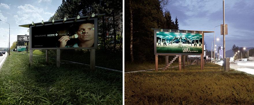 Keren, Ini Dia Billboard Berbentuk Rumah Untuk Para Gelandangan
