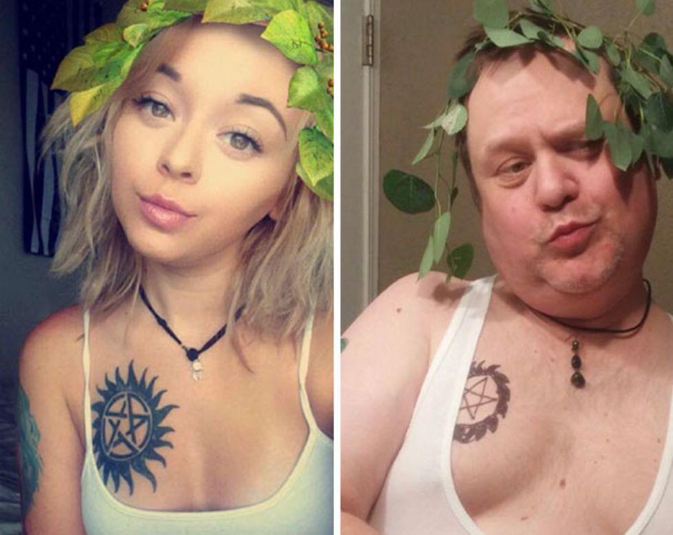 Kocaknya Bapak Kreatif Satu Ini Ngikutin Gaya Selfie Anaknya