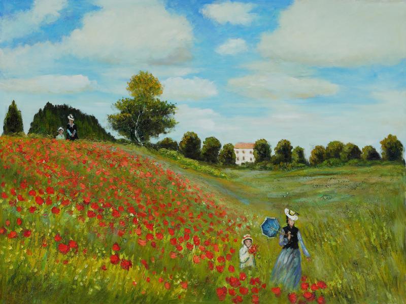 Gambar Lukisan Bunga dan Alam Abstrak Terbaru
